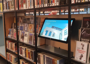 TSS / Evado Narrowcasting software in bibliotheek