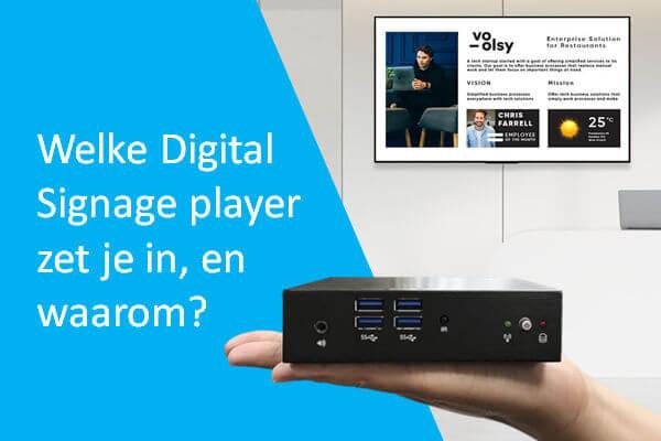 Digital signage player