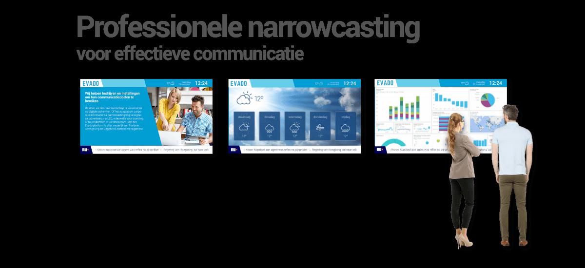Narrowcasting software voor professionals
